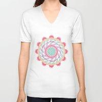 mandala V-neck T-shirts featuring Mandala by famenxt