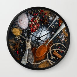 spices Wall Clock