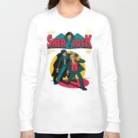 comic Long Sleeve T-shirts featuring Sherlock Comic by harebrained