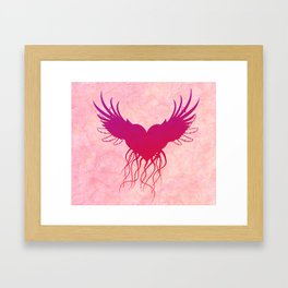 Give wings to my heart Framed Art Print