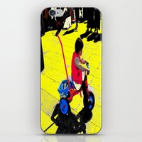 cycling iPhone & iPod Skins featuring Cycling by lookiz
