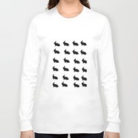 rabbits Long Sleeve T-shirts featuring Rabbits by thewinterisnotover