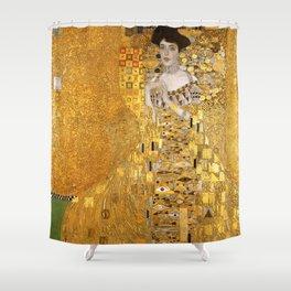 Gustav Klimt - Portrait d'Adele Bloch-Bauer I 1907 (new color rendition) Shower Curtain