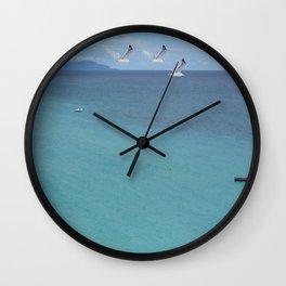 capri blues Wall Clock