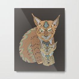 Wild Cats Love II Metal Print