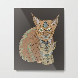 Wild Cats Love II Metal Print