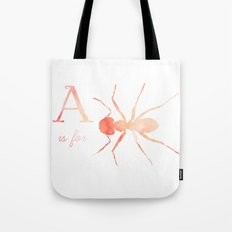 A is for Ant; Tote Bag
