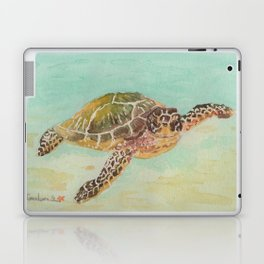 Sea Turtle Watercolor Laptop & iPad Skin