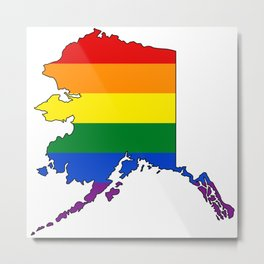 Alaska Pride! Metal Print
