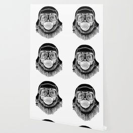 Chimpanzee Speed Rebel Wallpaper