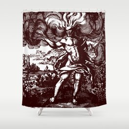 The North Wind Carried Him Shower Curtain