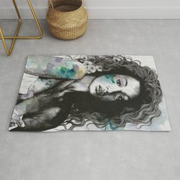 Start With a Strong and Persistent Desire | sexy black woman portrait Rug