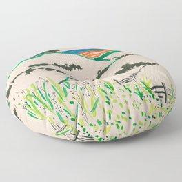 To the beach -Minimalist Landscape Floor Pillow