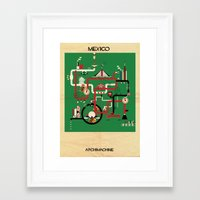 mexico Framed Art Prints featuring Mexico by federico babina