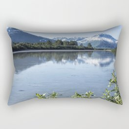 Placer River at the Bend in Turnagain Arm, No. 1 Rectangular Pillow