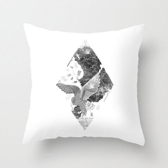 OWL MAP Throw Pillow