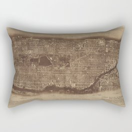 New York City, photographed from two miles up in the air Rectangular Pillow