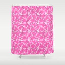 Pink Hawaiian Hibiscus Flowrs Shower Curtain