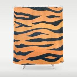wild animals: tiger pattern Shower Curtain
