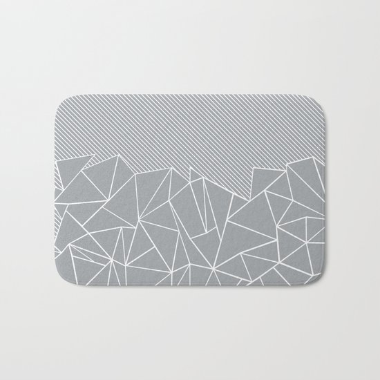 Ab Linear Grey Bath Mat