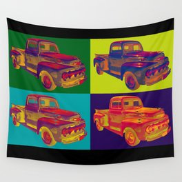 Colorful 1951 Ford F-1 Pickup Truck Pop Art  Wall Tapestry