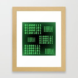 Binary code for GEEK Framed Art Print
