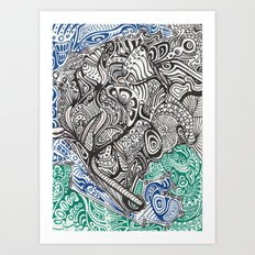 lazybones Art Print