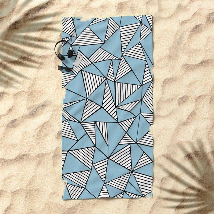 Ab Blocks Blue #2 Beach Towel