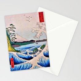 12,000pixel-500dpi - Utagawa Hiroshige - 36 Views of Mt.Fuji - The sea Satsuta at in Suruga Stationery Cards