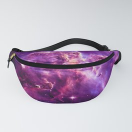 Mystic Mountain nebula. Purple Fuchsia Pink Fanny Pack