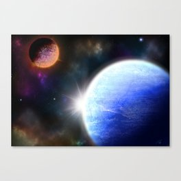 Explosion Nearby Canvas Print
