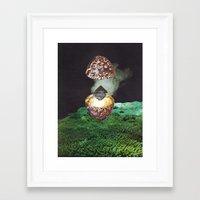 black widow Framed Art Prints featuring Black Widow by Alex Coll