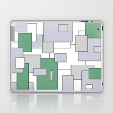 Squares - green, gray and white. Laptop & iPad Skin