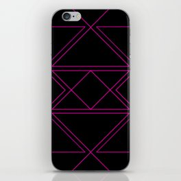Electro Pink & Black iPhone Skin