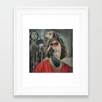 helen Framed Art Prints featuring Horsehead Helen  by Computarded
