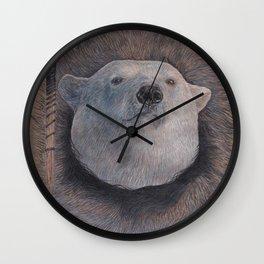 Inuit Polar Bear Wall Clock