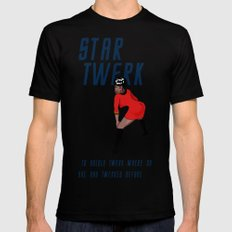 STAR TWERK Black MEDIUM Mens Fitted Tee