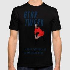 STAR TWERK MEDIUM Mens Fitted Tee Black