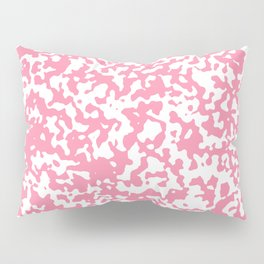 Small Spots - White and Flamingo Pink Pillow Sham