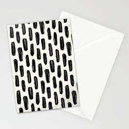 Ivory Vertical Dash Stationery Cards