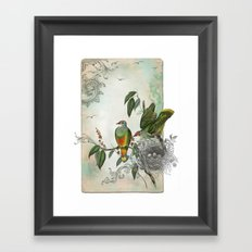 Nest Builders Framed Art Print
