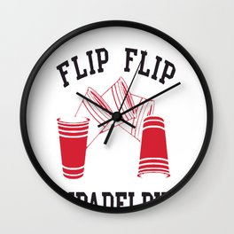 Flipadelphia - It's Always Sunny in Philadelphia Wall Clock