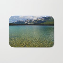 The Collin Range as seen from Lake Edith in Jasper National Park Bath Mat