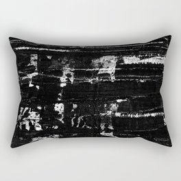 Distressed Grunge 102 in B&W Rectangular Pillow