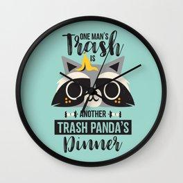 Trash Panda / Raccoon / Cute Animal Wall Clock