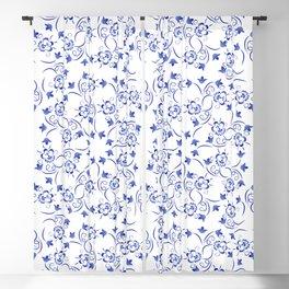 Dense pattern of blue flowers Blackout Curtain