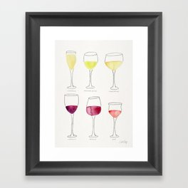 Wine Collection Framed Art Print