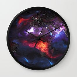 Beauty of Pollution / Aerosol Earth - Middle Part Wall Clock