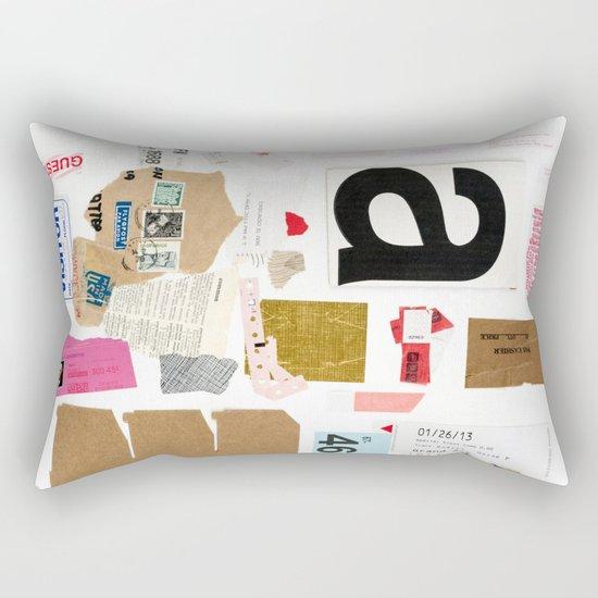 Paper Trail I  Rectangular Pillow