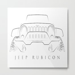 Jeep Wrangler Rubicon Metal Print